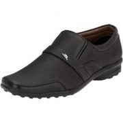 AFM Black Formal Slip on Shoes For Men