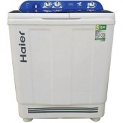 Haier HTW80-1128 8 kg Semi Automatic Top Load Washing Machine (White Blue)