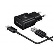 Cargador Samsung con cable MicroUSB negro EP-TA20EBE + ECBDU4EBE