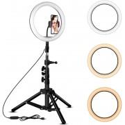 "Lampa Ring Light LED 18"" Circulara cu Lumina rece / naturala / calda"