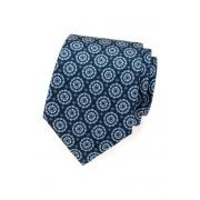 Modrá kravata s hedvábím strukturovaná květovaná Avantgard 620-62903