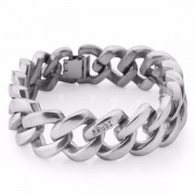 The Rubz Metal 15mm Unisex Bracelet Eco Silver