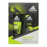 Pure Adidas Pure Game Gåvoask - 150ml Deodorant Spray og 50ml Shower Gel