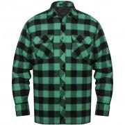 vidaXL Bélelt kockás férfi ing méret XXL zöld-fekete