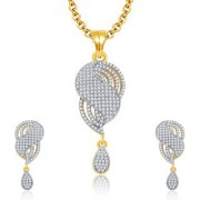 Sukkhi Jovial Gold And Rhodium Plated CZ Pendant Set For Women