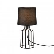 [lux.pro]® Asztali lámpa Frankfurt éjjeli lámpa design 38,5 x ø 18 cm fekete