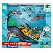 Animal Planet Deep Sea Exploration Playset Elasmosaurus with Exploration Raft