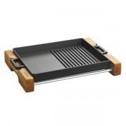 Lava kombinirana grill tava od gusa s drvenim podloškom