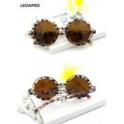 Ochelari de soare leopard print Yooske Vintage