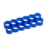 Clema E22 Stealth cu 12 sloturi pentru prinderea cablurilor, latime slot 4mm, culoare albastra