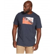 Johnny Bigg Big amp Tall Utility Print Crew Tee Navy Marle