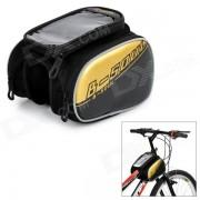 Bolsa de B-ALMA Telefono impermeable bolso del tubo + Frente para Mountain Bike - Negro