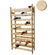 Raft lemn natur 54 sticle vin