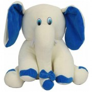 G.S. Baby Cute Elephant Plush Soft Toy for Kids White (18-inch)
