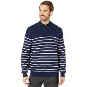 Polo Ralph Lauren Textured Stripe Crew Sweater Newport NavyWhite