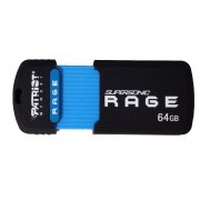 USB DRIVE, 64GB, Patriot Supersonic Rage, USB3.1, Black (PEF64GSRUSB)