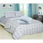 Set Lenjerie de pat Finet 2 persoane+Cadou 2 Perne 50x70 cm Albe Romstill Blue
