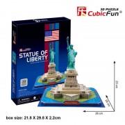 Cubicfun Statuia Libertatii New York SUA Puzzle 3D 39 de piese