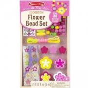 Креативен комплект - Направи си дървени бижута - Цветя, 18827 Melissa and Doug, 000772188272