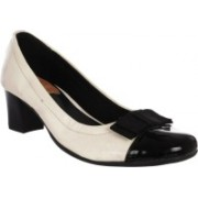 Fuoko CILLY BOW Corporate Casuals For Women(White, Black)