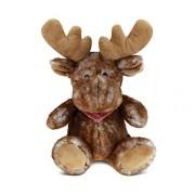 Puzzled Brown Sitting Moose Super - Soft Stuffed Plush Cuddly Animal Toy / Wild Animals Theme 7.5 Inch (5358)