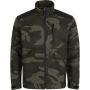 Cerva softshell jack camouflage L groen