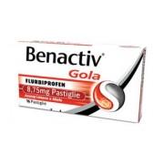 Reckitt Benckiser H.(It.) Spa Benactiv Gola 8,75 Mg Pastiglie Gusto Limone E Miele 16 Pastiglie