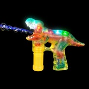 T-REX Led Bubble Blower Gun, Sound Bubble Saurus Dinosaur Raucous Sounds
