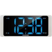 Ébresztőórás rádió 3'' LCD kijelzővel, fehér, CR16WH