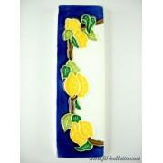 Numero civico ceramica con limoni nlp14