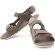 Clarks Men Khaki Nubuck Sports Sandals