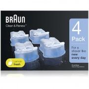 Braun Series Clean & Renew náhradní náplně do čisticí stanice s vůní Lemon Fresh 4 ks