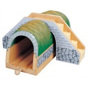 Wooden Train Tunnel with Stairs - Thomas & Friends / BRIO Compatible