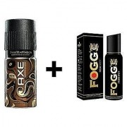 Axe Signature And Fogg Long Lasting Deo Deodorants Body Spray For Men Combo Pack Of 2 Pcs