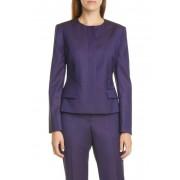 BOSS Jamaren Wool Suit Jacket Regular Petite DK PRPLE