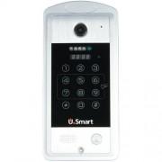 Post exterior metalic videointerfon U.Smart VDPIP01 cititor ID, camera wide angle, WiFI