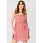 Debiflue x NA-KD Tied Up Mini Dress - Everyday Dresses - Pink