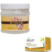 PINK ROOT DE-TAN GEL 500GM WITH OXYGLOW GOLD BLEACH 50GM