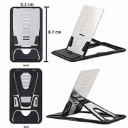 S4D Clever Credit Card Pocket Size Multipurpose Folding Universal Cell Phone Mini Card Quick Stand Assorted color