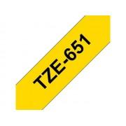 Brother Märkband TZ serien TZe651 24mm svart/gul