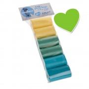 zoolove bolsas de colores para heces - 6 rollos de 20 bolsas cada uno