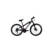 Bicicleta Tuff25 Freeride Aro 26 Freio A Disco 21 Velocidades Câmbios Shimano Roxo/laranja - Vikingx