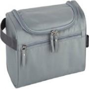 LS Letsshop Makeup Box Fashion Make Up Storage Bag Case Jewelry Box Travel Toiletry Kit(Grey)