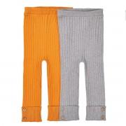 La Redoute Collections Lote de 2 leggings em tricot canelado, 1 mês - 3 anosAmarelo + cinza- 1 mes (54 cm)
