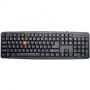 TECHON (with Rupee Font) Slim Corona Wired USB Multi-device Keyboard (Multicolor) Wired USB Multi-device Keyboard (Blac