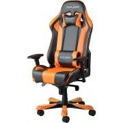 Scaun gaming DXRacer King negru/portocaliu