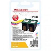 Office Depot Cartucho de tinta Office Depot compatible hp 344 3 colores c9505ee 2 unidades
