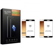 Adoniss [9H] Edge to Edge Premium Tempered Glass Mobile Screen Protector (Pack of 2) for Samsung Galaxy C9 Pro