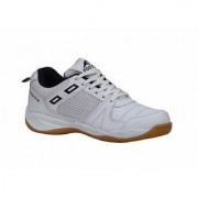 FOOTFIX Unisex Squash White (Non-Marking)Badminton Shoes(Size6 Uk/Ind)