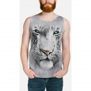 Playera 4d - Unisex 36-3252 White Tiger Face